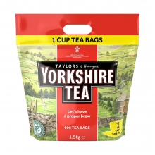 Yorkshire Tea Bags 1.5kg - 600 Pack