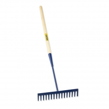 Tarmac Rake 16 Teeth Round Wooden Shaft