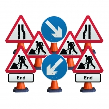 Cone Sign Street Works Package