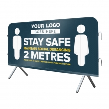 Stay Safe Mesh Crowd Barrier Cover