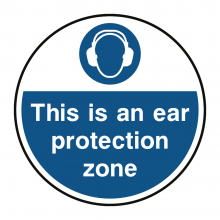 This Is An Ear Protection Zone Floor Graphic