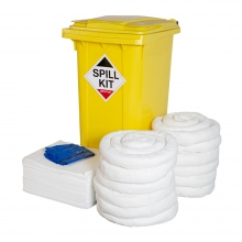 Oil & Fuel Spill Kit - Wheelie Bin