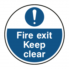 Fire Exit Keep Clear Floor Graphic