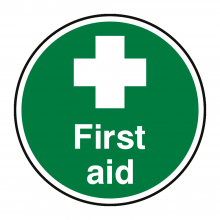 First Aid Floor Graphic