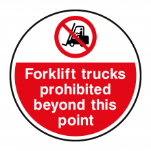 Fork Lift Trucks Prohibited Floor Graphic