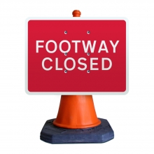 Footway Closed Cone Sign (P7018)