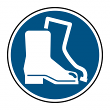 Foot Protection Symbol Floor Graphic