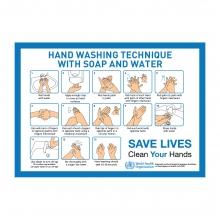 Hand Washing Technique Sign Landscape