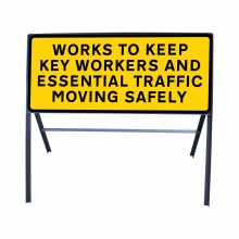 Key Workers & Essential Traffic Metal Sign Face