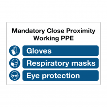 Mandatory Close Proximity Working PPE Sign