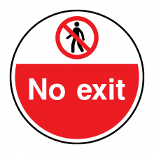 No Exit Floor Graphic