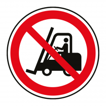 No Fork Lift Trucks Symbol Floor Graphic