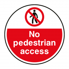 No Pedestrian Access Floor Graphic