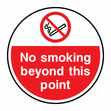 No Smoking Beyond This Point Floor Graphic
