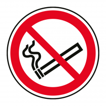 No Smoking Symbol Floor Graphic