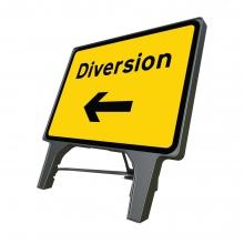 Diversion Left Q-Sign (P2702)