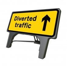 Diverted Traffic Ahead Q-Sign (P2703)