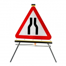 Road Narrows Both Sides Roll-Up Sign Face (P516)