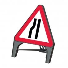 Road Narrows Left Q-Sign (P517)