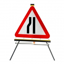 Road Narrows Left Roll-Up Sign Face (P517)