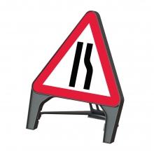 Road Narrows Right Q-Sign (P517)