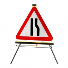 Road Narrows Right Roll-Up Sign Face (P517)