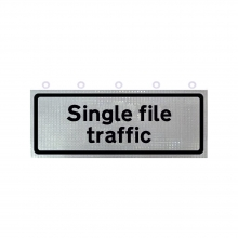Single File Traffic Supplementary Roll-Up Sign Face (P518)