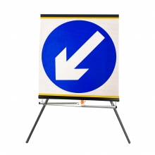 Keep Left Roll-Up Sign Face (P610)