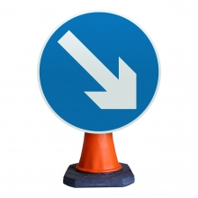 Keep Right Cone Sign (P610)