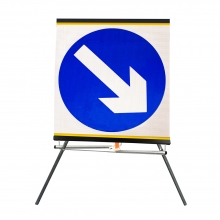 Reversible Keep Left or Right Roll-Up Sign Face (P610)