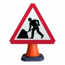 Road Works Ahead Cone Sign (P7001)
