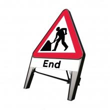 Road Works Ahead with End Plate Q-Sign (P7001)