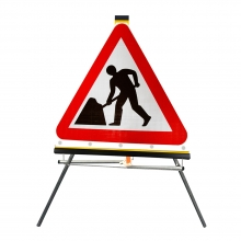 Road Works Ahead Roll-Up Sign Face (P7001)