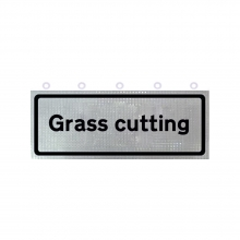 Grass Cutting Supplementary Roll-Up Sign Face (P7001.1)