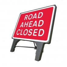 Road Ahead Closed Q-Sign (P7010.1)