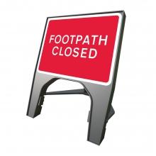 Footpath Closed Q-Sign (P7018)