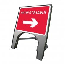 Reversible Arrow Pedestrians Q-Sign (P7018)