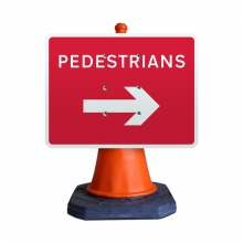 Pedestrians Right Cone Sign (P7018)