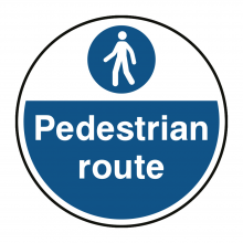 Pedestrian Route Floor Graphic
