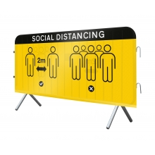 Social Distancing Mesh Crowd Barrier Cover