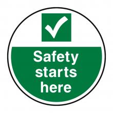 Safety Starts Here Floor Graphic