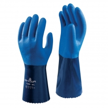 Showa 720R Blue Nitrile Coated Gauntlets Size 11