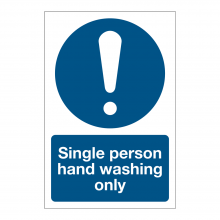 Single Person Hand Washing Sign