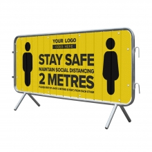 Stay Safe Mesh Crowd Barrier Banner