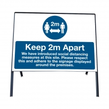 Social Distancing Safety Measures Sign