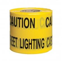 Caution Street Lighting Below Underground Warning Tape