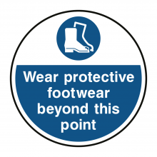 Wear Protective Footwear Beyond This Point Floor Graphic