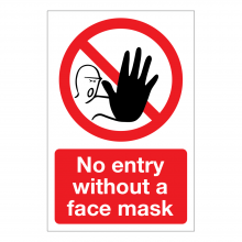 No Entry Without A Face Mask Sign